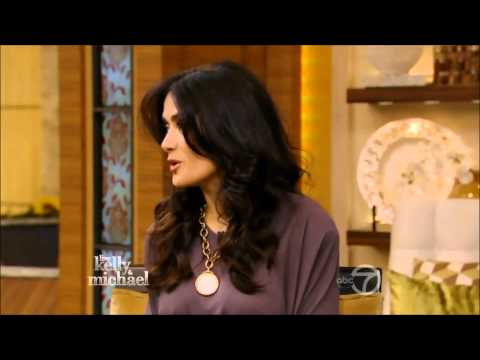 Salma Hayek  Live With Kelly and Michael