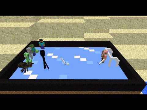 Monster School: Ice Hockey - Minecraft Animation