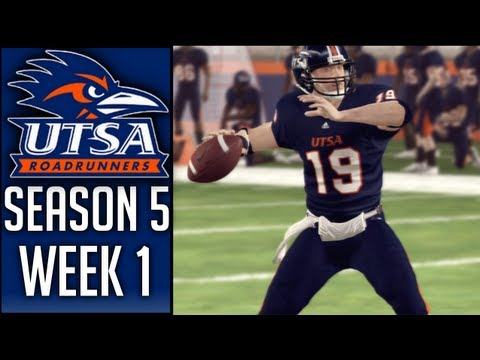 NCAA Football 13 Dynasty (UTSA) - Season Opener! - Week 1 vs Syracuse (Season 5)