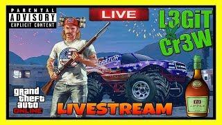 Grand Theft Auto V! Saturday Night Drinks And GTA V Online Multiplayer Playlist Madness! #L3GiTCr3W