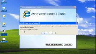 Upgrade Internet Explorer 6 to IE 8 on a Windows XP SP3?