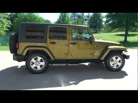 sold 2007 jeep wrangler sahara unlimited low miles hard. Black Bedroom Furniture Sets. Home Design Ideas