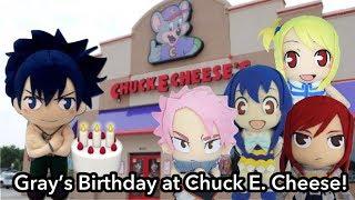 Anime Plush Adventures: Gray's Birthday at Chuck E Cheese!