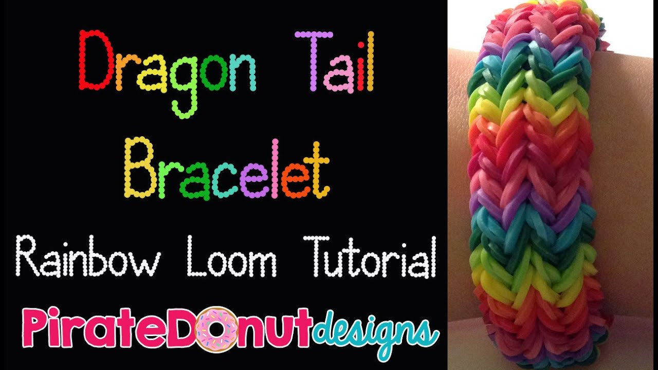 dragon tail bracelet rainbow loom tutorial youtube