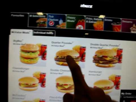 Mcdonalds Touch Interface Ordering System Youtube