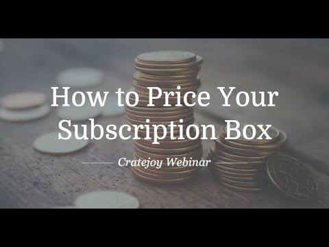 How to Price Your Subscription Box