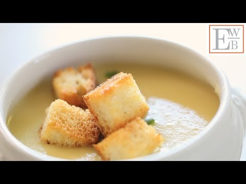 Beth's Easy Potato and Leek Soup with Garlic Croutons