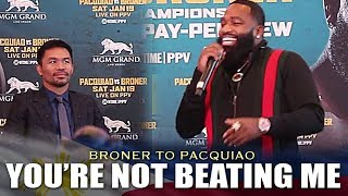 BRONER: I DONT SEE PACQUIAO BEATING ME