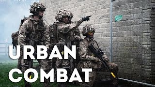 British Army Training at Trident Juncture 2015 - Mock Battle in Spain: Urban Combat Training