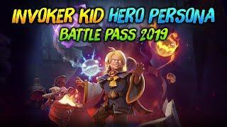 INVOKER KID HERO PERSONA - BATTLE PASS 2019 😁 | dota 2