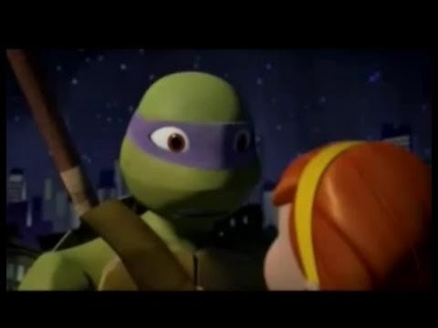 Donatello and April: Kiss the Girl - YouTube