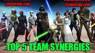 Star Wars Galaxy of Heroes: Top 5 Team Synergies - SWGOH - Remon Azab TeamSkunk