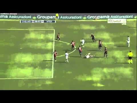 Samuel Eto Goal And Monkey Dance - Inter Milan Vs Cagliari 1-0  - 17 10 2010