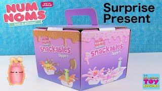 Num Noms Snackables Dippers Surprise Present Box Opening Toy Review | PSToyReviews