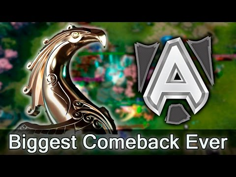 Biggest Comeback in Dota history — Alliance are going to Major
