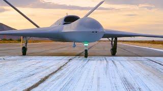 General Atomics - MQ-25 Stingray Autonomous UAS Tanker Flight Deck Taxi Testing [1080p]