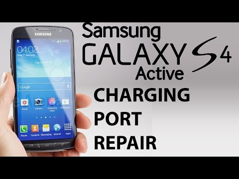 Samsung Galaxy S4 active dock charging port repair uncut disassembly and reassembly.