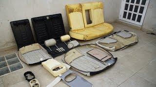 Removing a Rear Car Seat Cover(Jaguar X-Type, sedan,  2007)-Car Upholstery