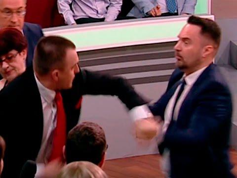 Поляк Томаш Мацейчук получил по морде за красных фашистов