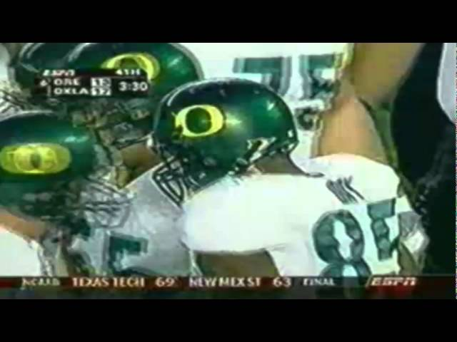 Oregon TE Tim Day 1 yard touchdown catch vs. Oklahoma 12-29-2005