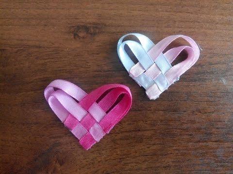Как сделать своими руками сердечки из ленты