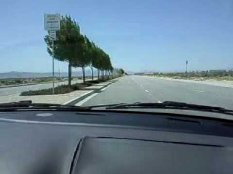 HONDA CIVIC Musical road in Lancaster California, tires playing Lone Ranger on the street