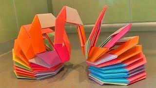 Разноцветная пружина - ОРИГАМИ