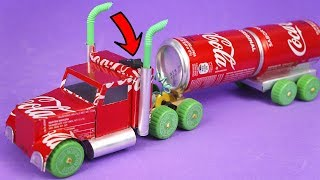 AMAZING COCA-COLA TRUCK MADE WITH ALUMINUM CANS AND DC MOTOR