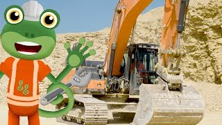 Excavators For Kids | Gecko's Real Vehicles | Construction Vehicles | Learning & Educational Videos