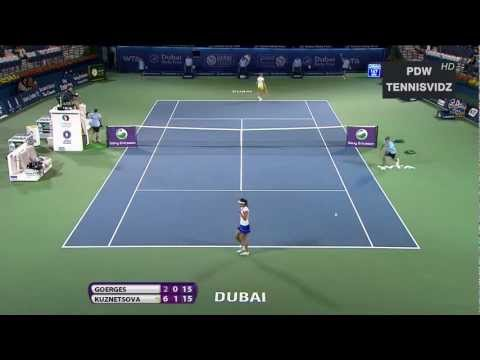 WTA - Goerges vs Kuznetsova Dubai 2012 Highlights