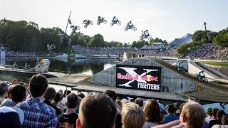 Freestyle motocross action on floating course - Red Bull X-Fighters Munich 2014
