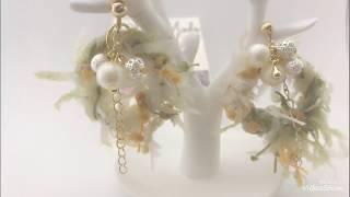 Easy DIY: Chic hoop and cluster beads Earrings(fancy Yarn earrings)