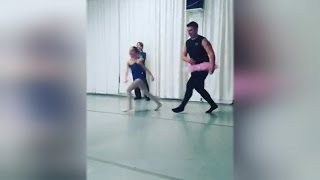 Dancing Dads In Tutus Steal The Show In Students' Ballet Class For Parents