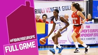 France v Croatia - Full Game - FIBA U16 Women's European Championship 2016