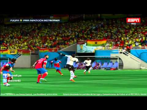 EA SPORTS 2014 FIFA WORLD CUP - Ghana vs United States - Group G @ Simulacion PS3