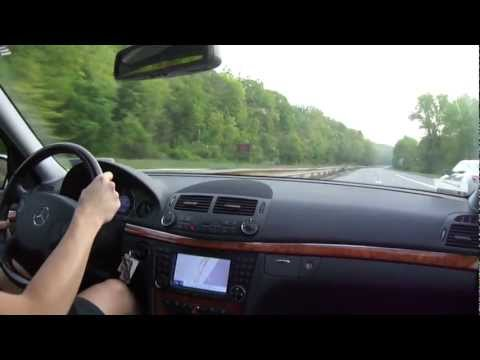 Mercedes E350 High Speed Drive