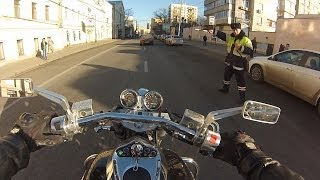 Ride on Sunny Day on Moscow, Russia