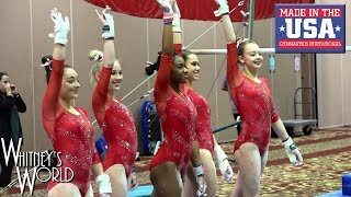 Whitney Bjerken | 4th Level 10 Gymnastics Meet | Made in the USA
