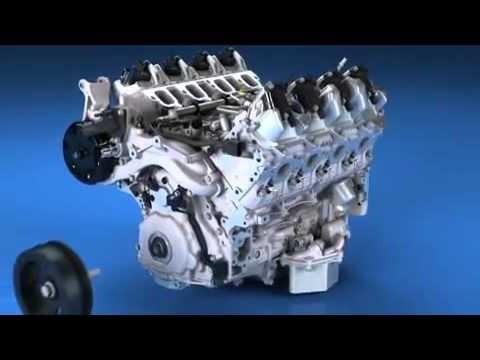2014 Corvette C7 LT1 Engine Build Animation