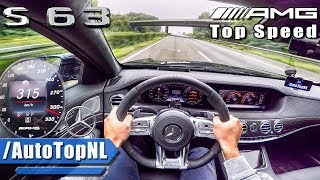Mercedes S63 AMG 612HP 4Matic+ ACCELERATION 315km/h TOP SPEED AUTOBAHN POV by AutoTopNL