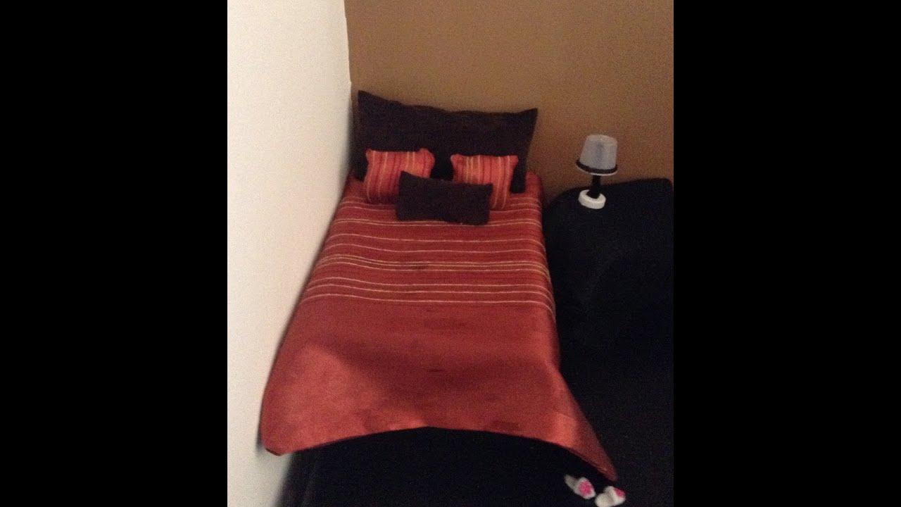 Como hacer una cama y edredon para mu ecas youtube - Como construir una cama ...