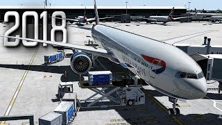 New Flight Simulator 2018 in 4K - P3D 4.3 | Spectacular Realism