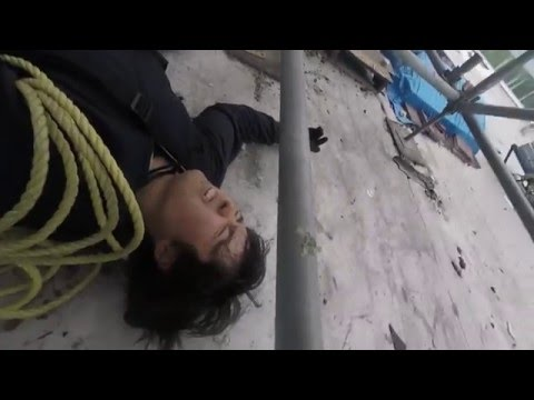 9 meter fall onto my back: Stunt gone wrong!
