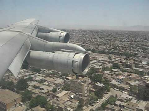 Saha Air Boeing 707 Landing in Mashad, Iran