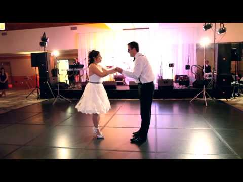 Wedding First Dance - Swing Dance To crazy Little Thing Called Love video