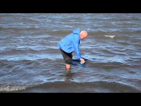 Filling water bottle in Arctic Ocean (2015)