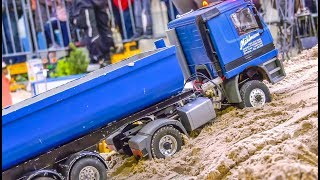 RC Trucks! Mercedes Actros STUCK! Container fire!