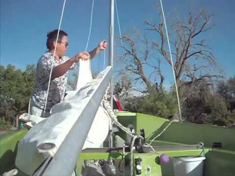 Flying Junior Sailboat Rigging http://www.veengle.com/s/Small%20sailboat.html