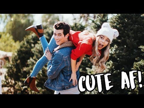 BEING CUTE AF AT A CHRISTMAS TREE FARM! VLOGMAS DAY 3!
