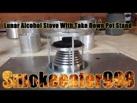 Lunar Alcohol Stove With Take Down Pot Stand